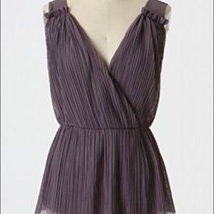 Anthropologie Deletta purple blouse size xs